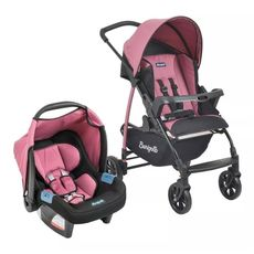conjunto-carrinho-ecco---bebe-conforto-tour-evolution-preto-com-rosa-burigotto