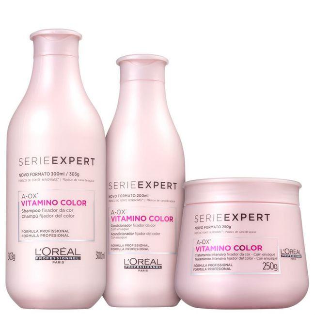 kit-shampoo-300ml---condicionador-200ml---mascara-250ml-vitamino-color-loreal--3-produtos-