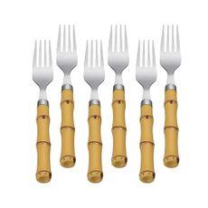 conjunto-com-6-garfos-para-mesa-bambu-plastico-19cm-7381-lyor