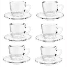 jogo-6-xicaras---pires-para-cafe-coffee-time-em-vidro-90ml-dynasty