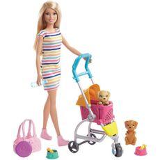 boneca-barbie-carrinho-de-cachorrinhos-ghv92-mattel