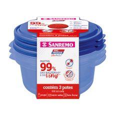 conjunto-3-potes-plastico-ultraprotect-sr545-19c-530ml-azul-sanremo