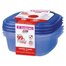 conjunto-3-potes-plastico-ultraprotect-sr455-19c-1300ml-azul-sanremo